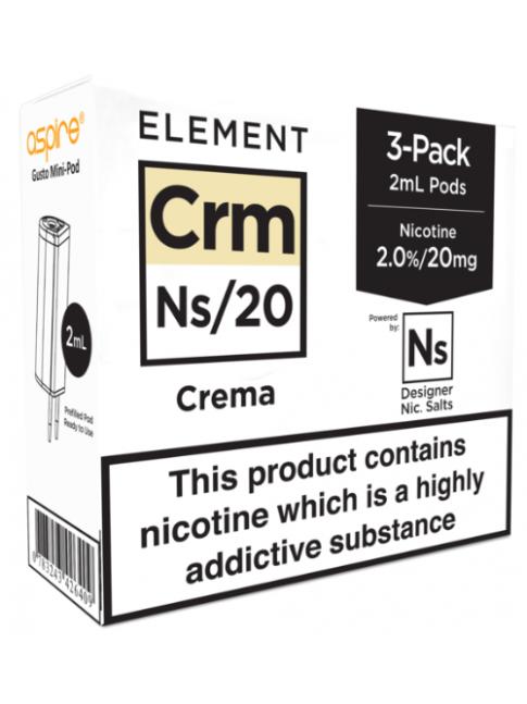Buy Crema - Aspire Gusto Mini NS20 Pod at Vape Shop – 7Vapes