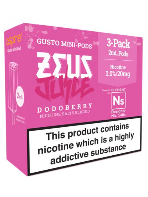 Buy Zeus Juice Dodoberry - Aspire Gusto Mini NS20 Pod at Vape