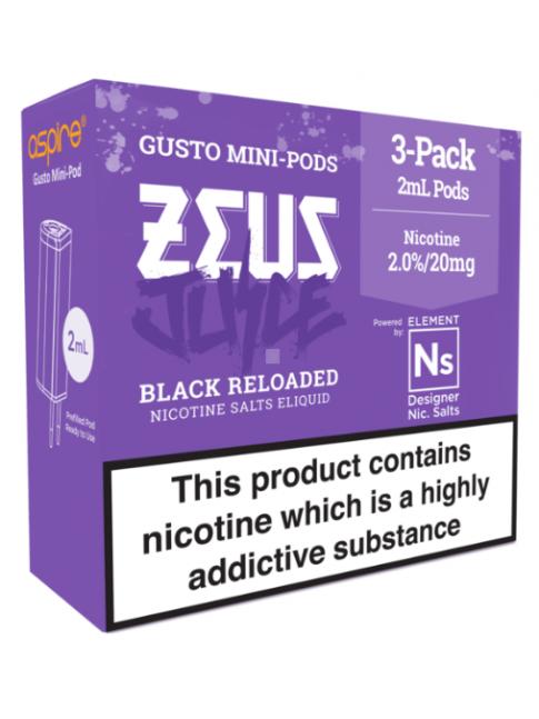Buy Zeus Juice Black Reloaded - Aspire Gusto Mini NS20 Pod at
