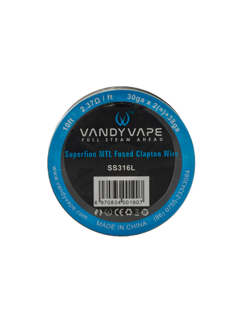 Buy Vandy Vape Superfine MTL Fused Clapton SSL316L Wire at Vape