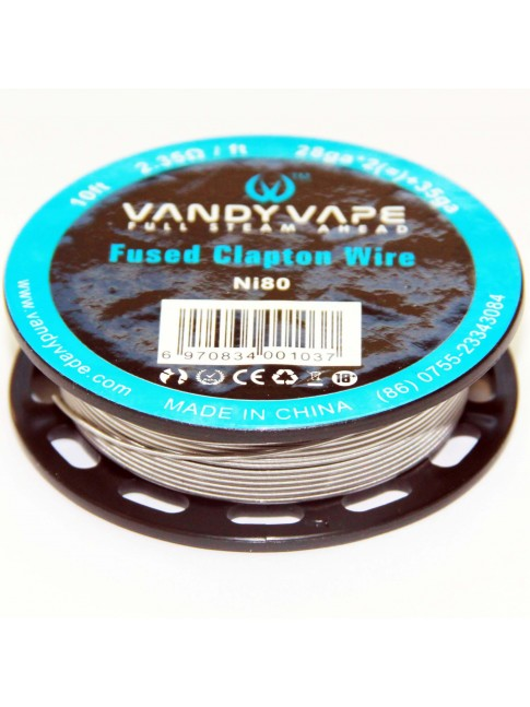 Buy Vandy Vape Triple Fused Clapton Ni80 Wire at Vape Shop –