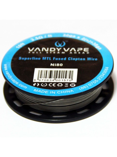 Buy Vandy Vape Superfine MTL Fused Clapton Ni80 Wire at Vape